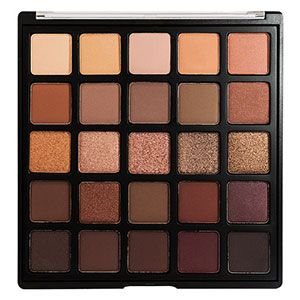 A twenty-five-colour deep brown and purple eyeshadow palette.  With a range of f...