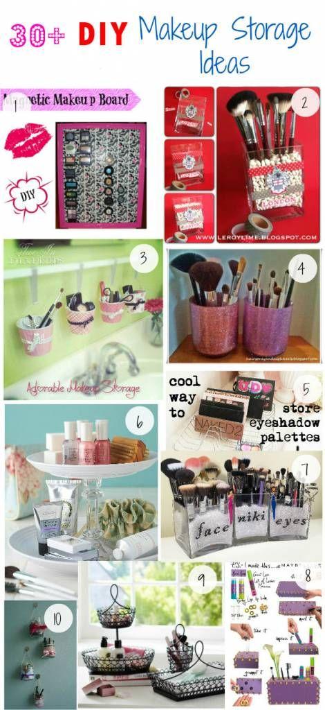 Click Pick for 34 DIY Makeup Storage Ideas | Small Closet Organization Ideas | D...
