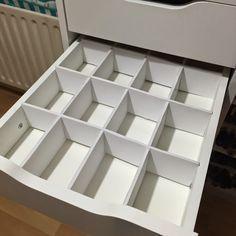 DIY Foamboard Drawer dividers for Ikea Alex Drawers. www.totalmakeupad...
