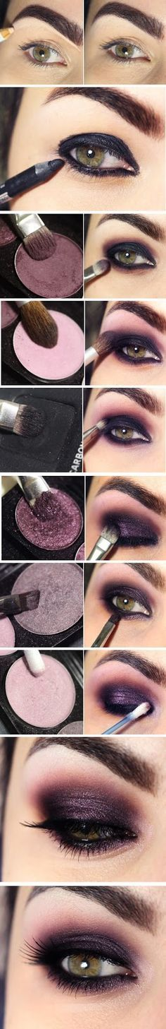 Gorgeous Smokey Eyes Makeup Tutorials With Purple Shade / Best LoLus Makeup Fash...