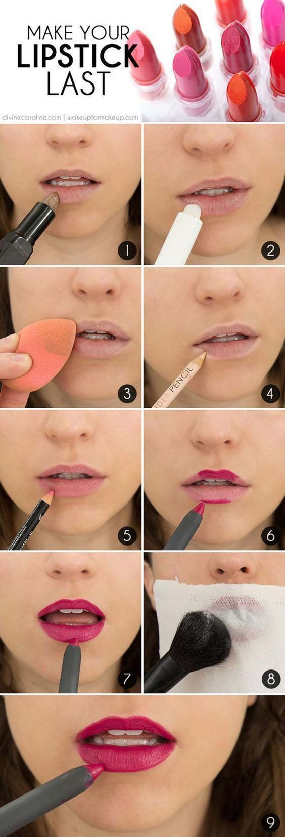Lipstick Tutorials - Best Step by Step Makeup Tutorial How To - The Secret to Lo...