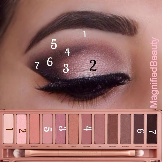 Naked 3 tutorial beautiful pink eyeshadow creates a simple yet elegant make up: