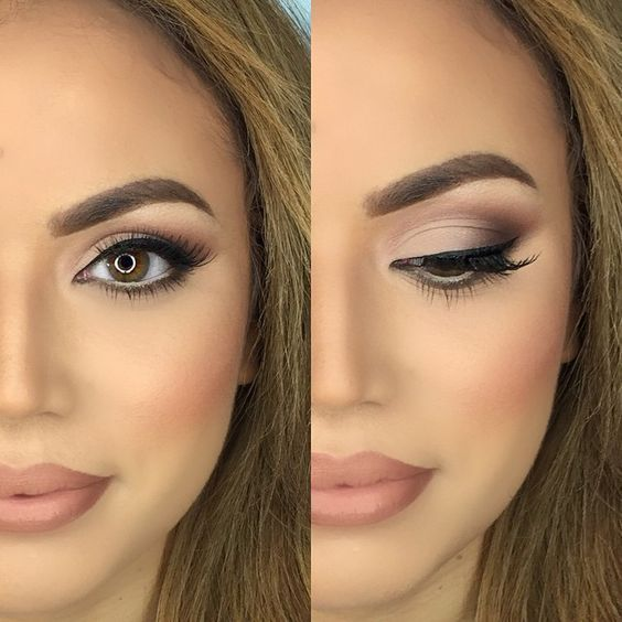 Natural Makeup Looks. Simple, Everyday, Easy Look and Ideas For Brown Eyes, Tuto...