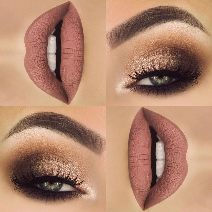 shimmery brown smokey eye  Join my free tips and tricks group! www.lindseypierce...