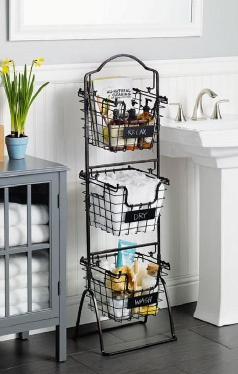 This 3-Tier Market Basket Stand is the practical and elegant storage solution th...