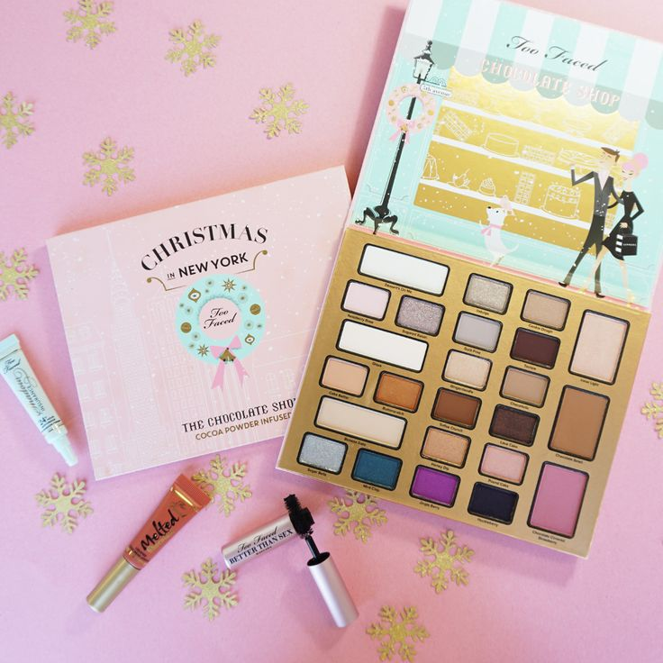 Too Faced's Limited Edition The Chocolate Shop is a makeup set with cocoa po...