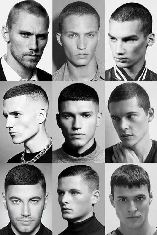 Men stereotypically have short buzz cuts compared to women who have long hair