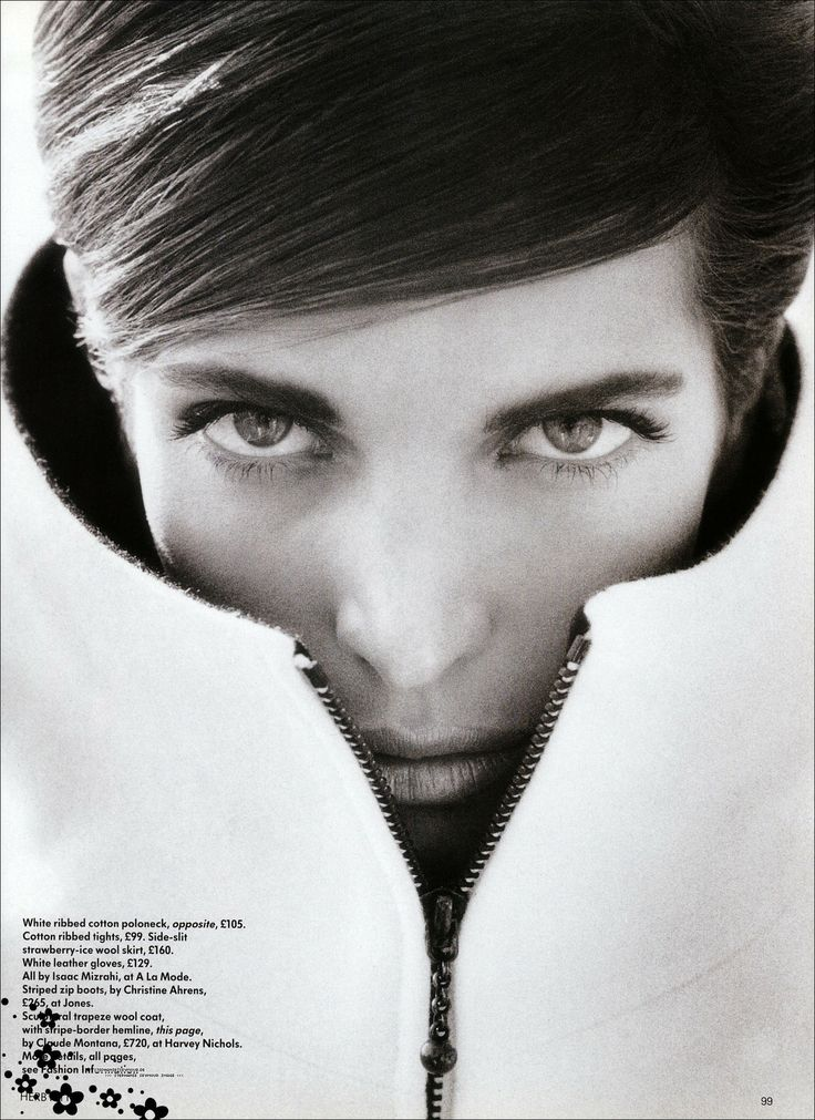 Stephanie Seymour Vogue UK August 1990 by Herb Ritts