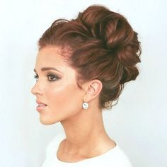 A gorgeous twisted updo