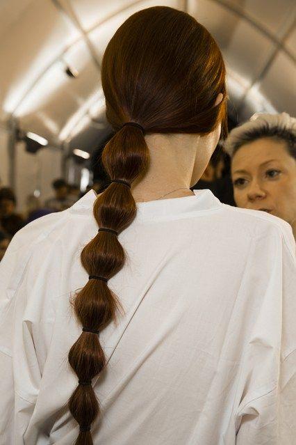 A low bobble ponytail
