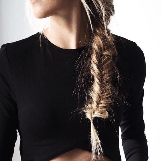 A messy fishtail braid is always a good idea