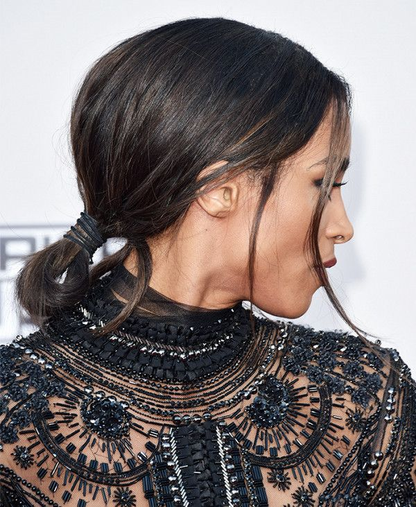 Ciara's effortless low bun achieves the perfect amount of unfinished effect ...