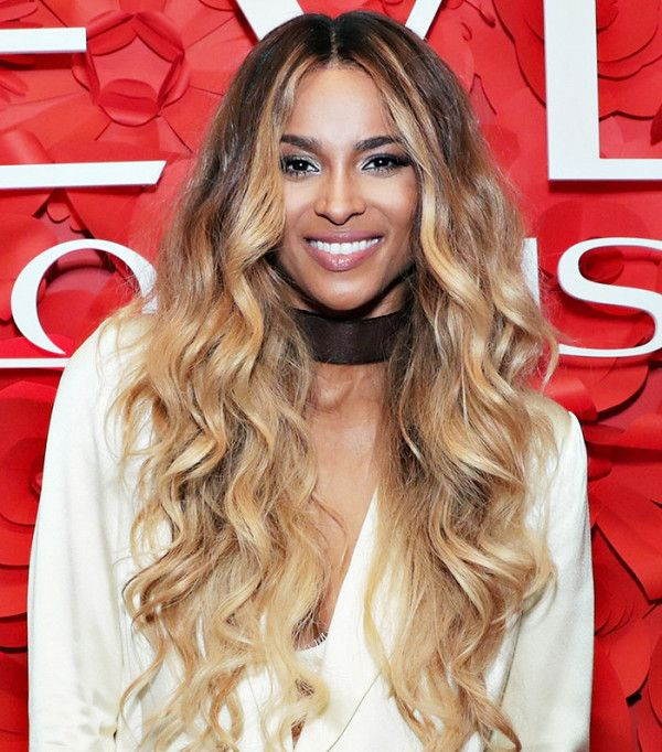 Ciara's long, full curls are gorgeous