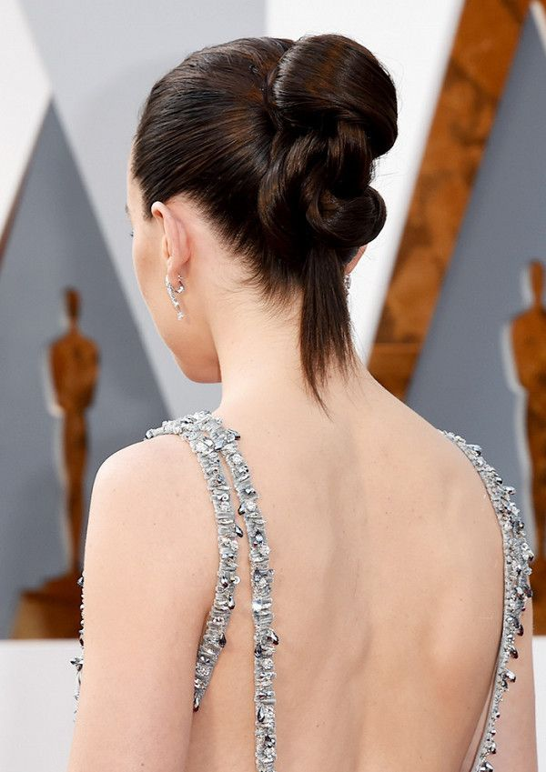 Daisy Ridley's slick updo has timeless appeal but is anything but expected
