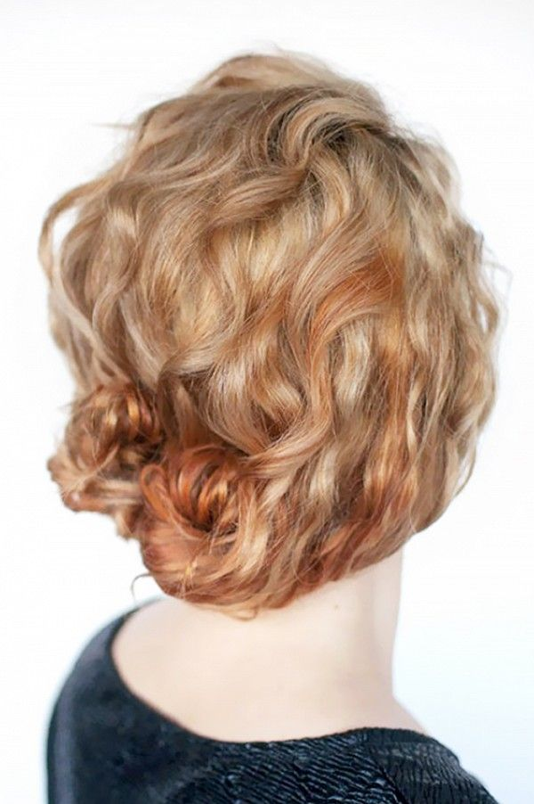 Double mini-buns are a perfect, easy hairstyle for those with medium-length curl...