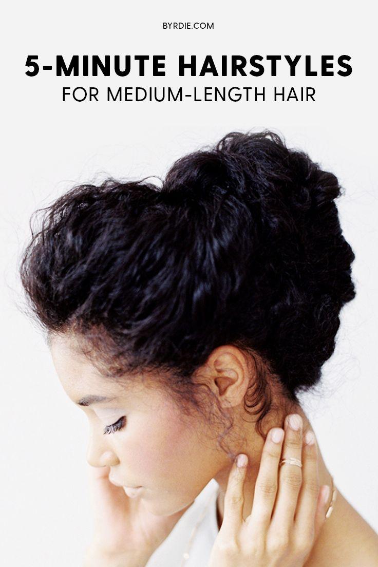 Easy hairstyles for medium-length hair