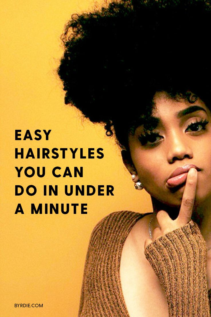 Easy hairstyles to recreate in under one minute