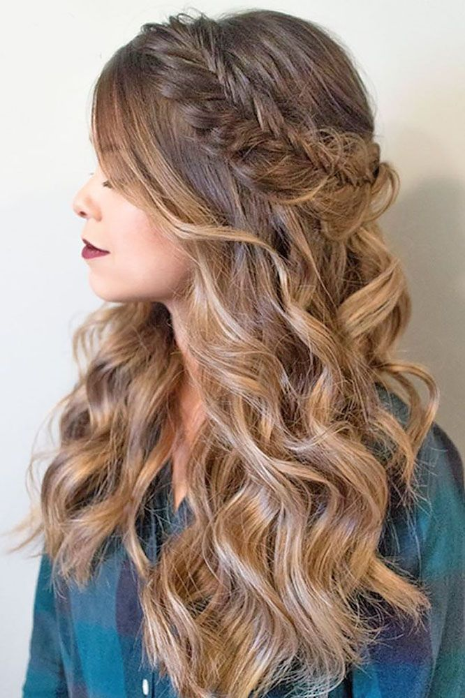 Best HairStyles For 2017/ 2018 - Fishtail braid+curls - Flashmode ...