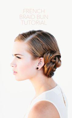 French Braid Bun Tutorial #braid #bun #hair #tutorial #beauty