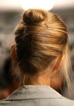 french twist + a bun