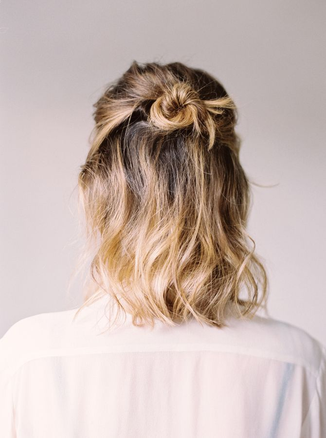 Best Hairstyles For 2017 2018 Half Top Knot An Easy Laid Back