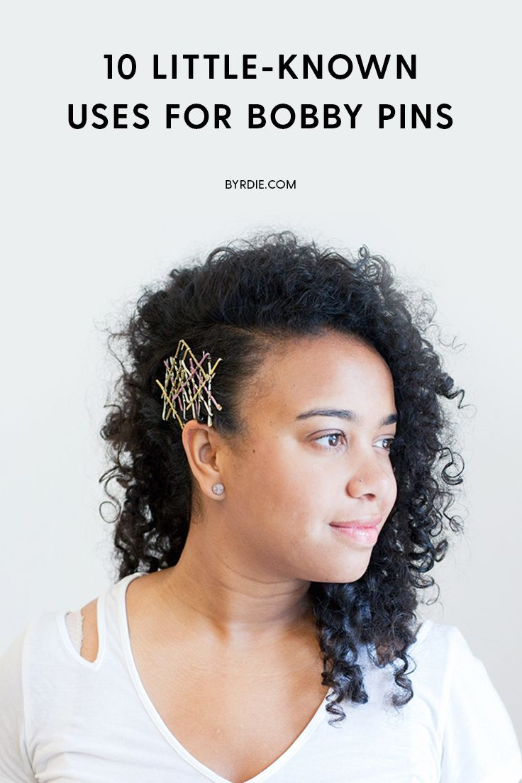 How to create bobby pin hair art
