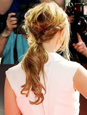 How to create this cool twisted low ponytail as seen on British singer Kimberley...
