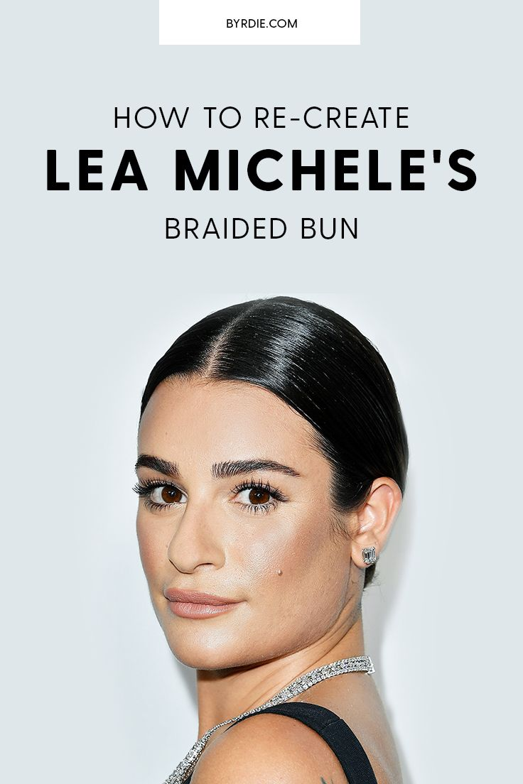 How to do a braided bun, by Lea Michele