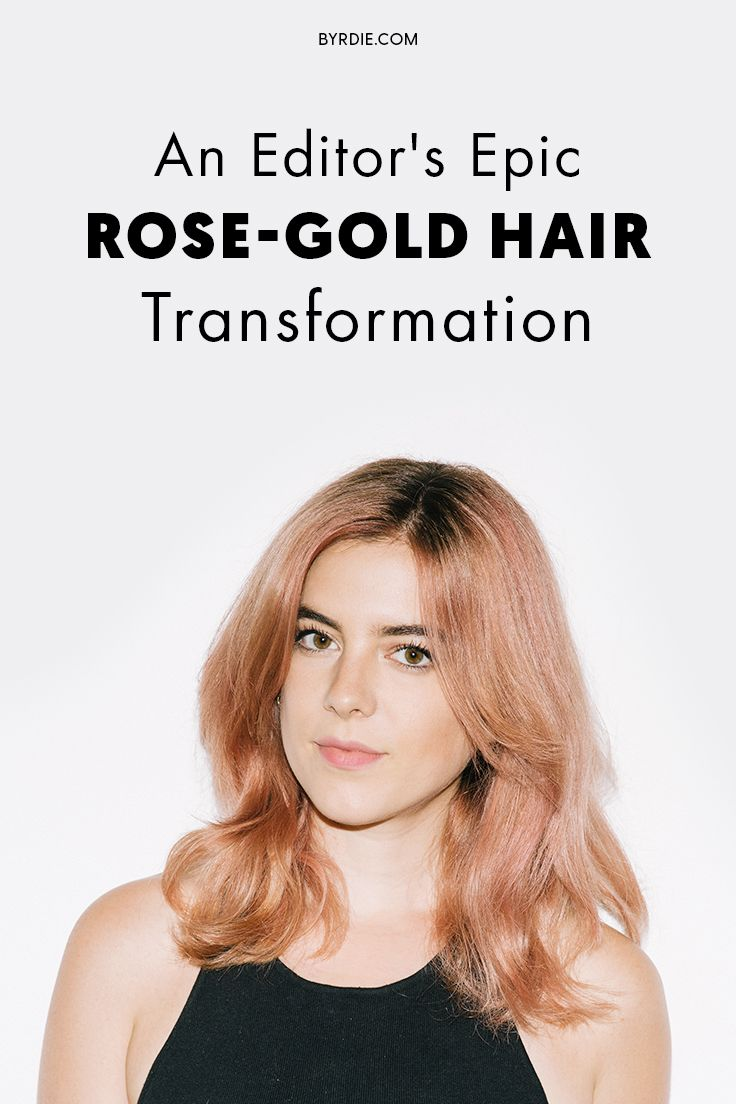 How to dye your hair rose-gold