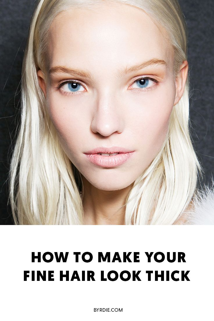 How to make thin, fine hair look thicker