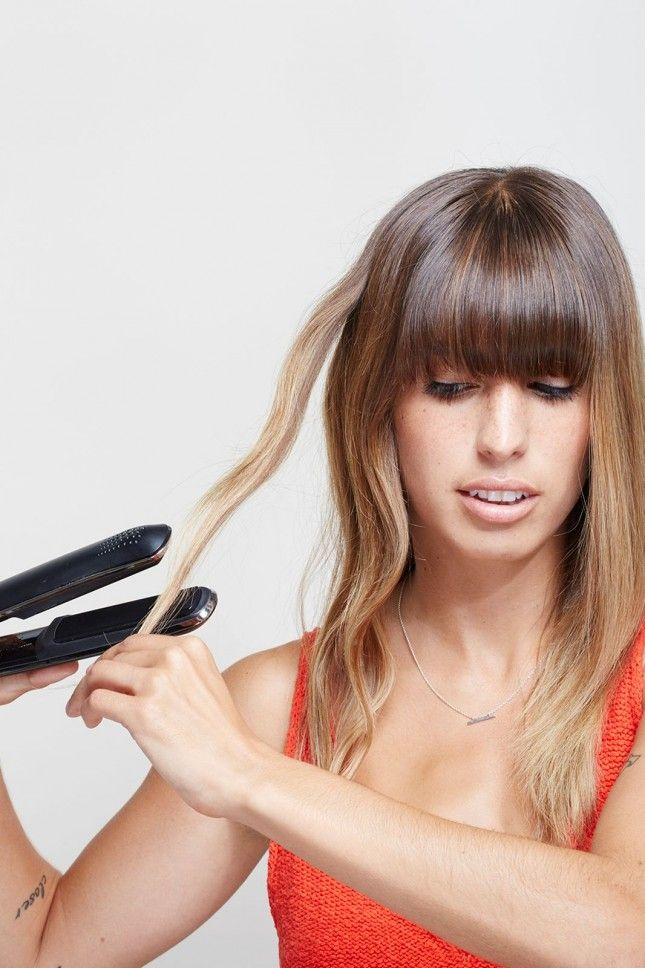 How to use a flat iron to get gorgeous loose waves.