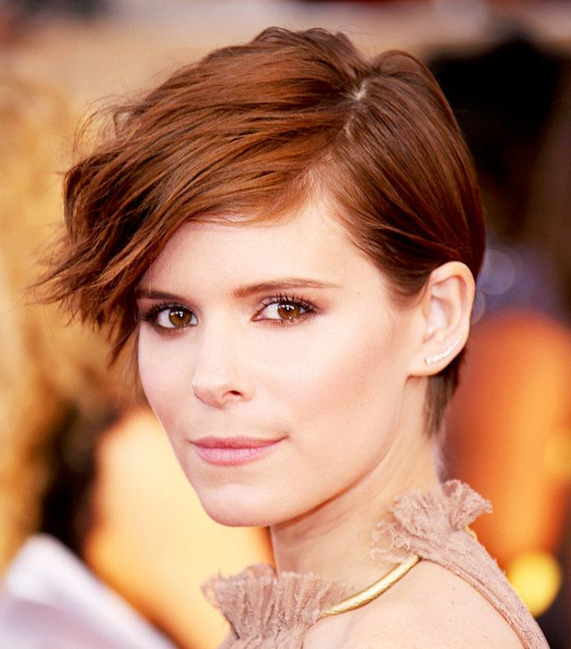 Kate Mara's sun-kissed auburn hair color is perfect for fall