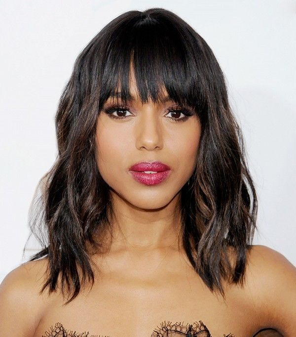Kerry Washington's soft curls and blunt bangs are mesmerizing