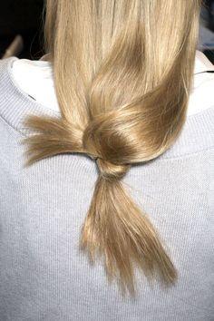 Knots.. #HairInspiration #LowPony #LowBun #Messy #Knot