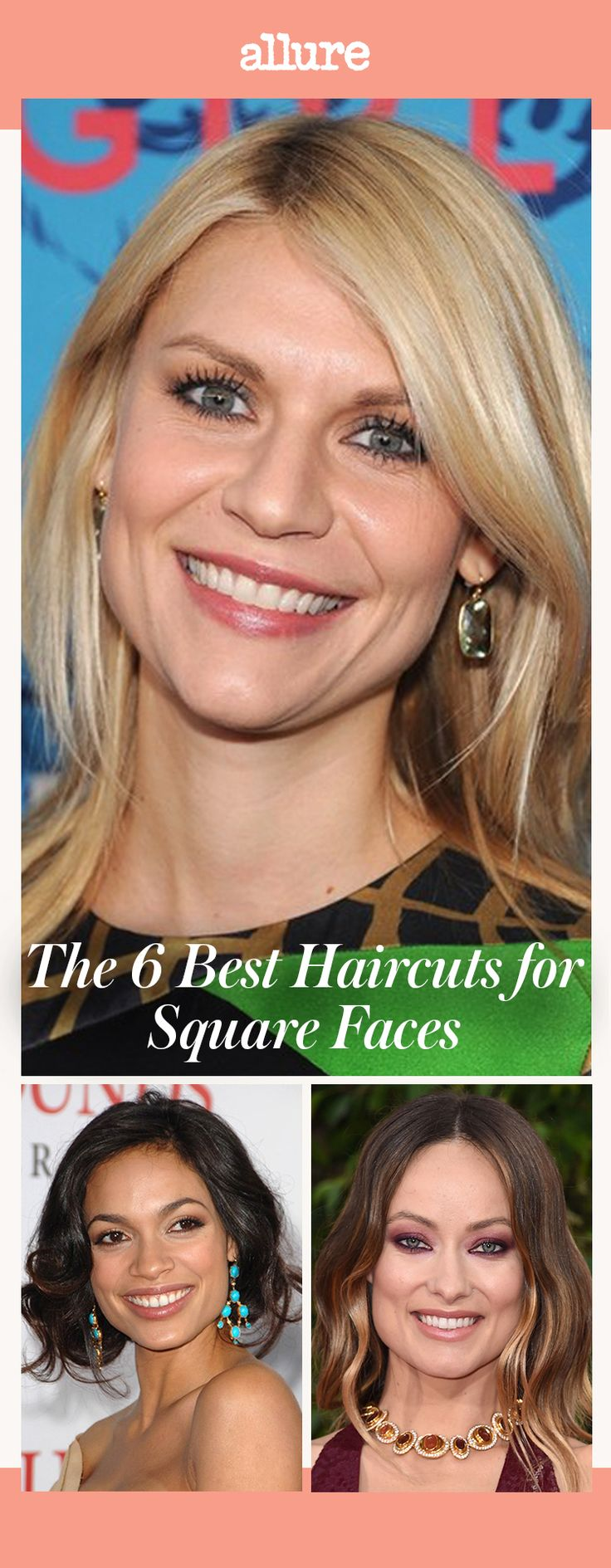 Looking for a haircut to flatter a squareish face shape? Take a cue from these a...