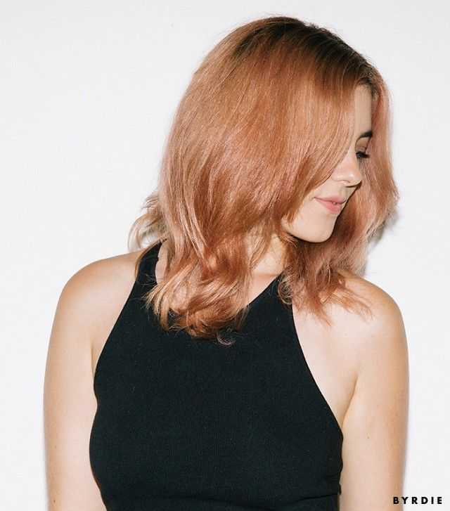 Obsessed with the way the rose gold hair trend looks