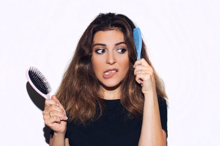 Sona Gasparian shows how to brush your hair without breakage.