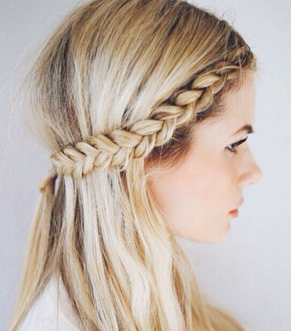 The braided half-crown will make you look so chic when you only have a few minut...