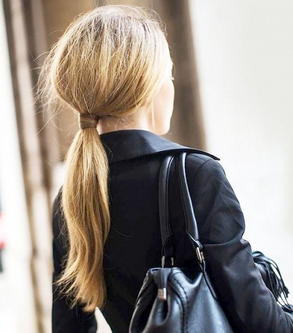 The hair-wrapped ponytail