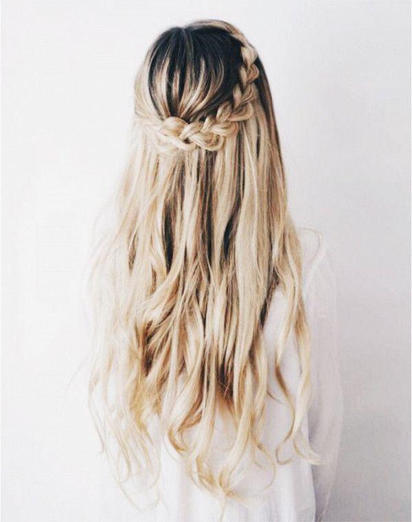 The half heidi braid