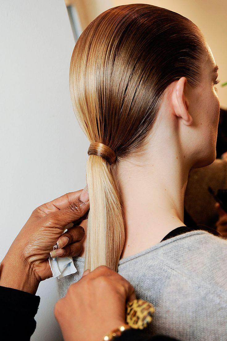 the sleekest low ponytail