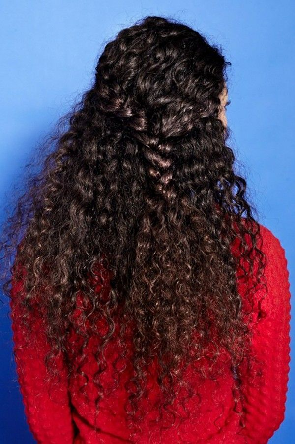 The undone braid is the perfect quick and easy hairstyle for those with curly ha...