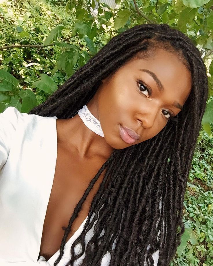 These twisted locs are a great protective hairstyle for those with natural hair