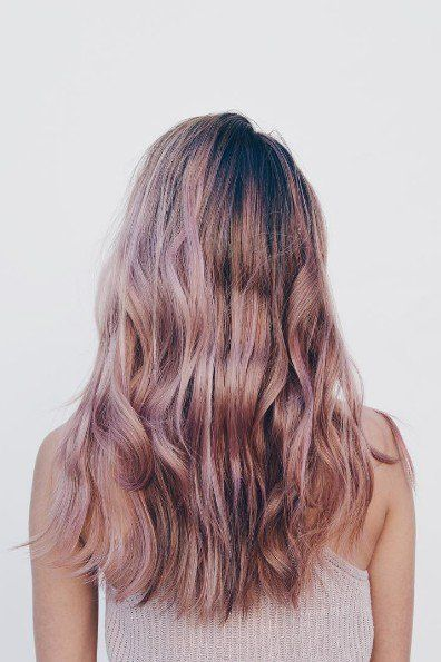 This is proof that even brunettes can have fun with the rose gold hair trend
