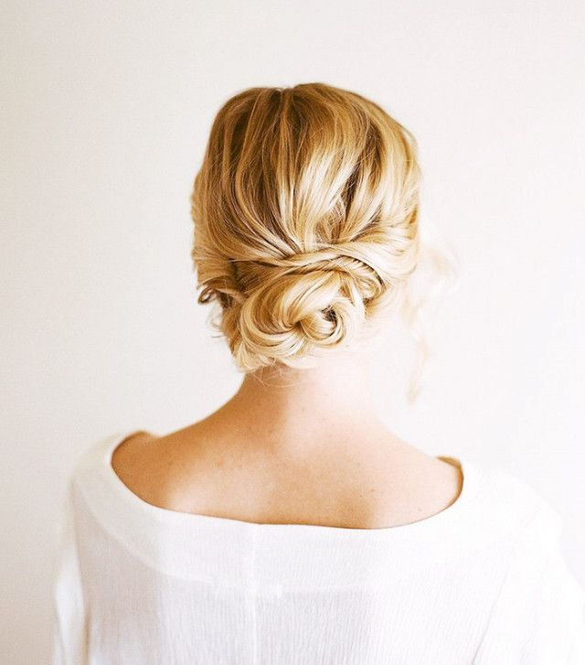 This low bun is better than an updo