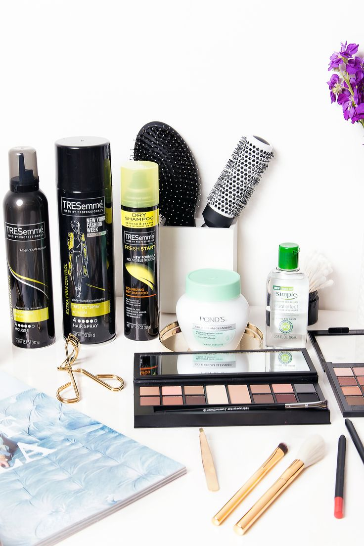 Vanity table goals featuring all our favorite makeup and haircare essentials. #a...