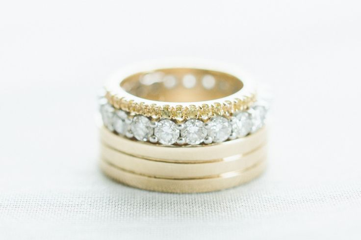 a stack of diamonds and gold #rings photography: Paper Antler - paperantler.com ...