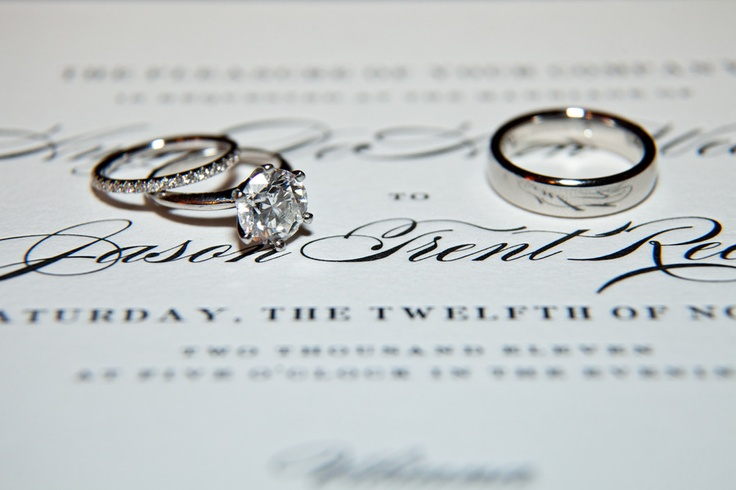 Beautiful rings! via StyleMePretty.com... Photography by samuellippke.com