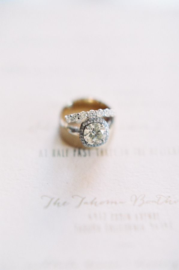 Cushion-cut engagement ring: www.stylemepretty... Photography: Carmen Santorelli...