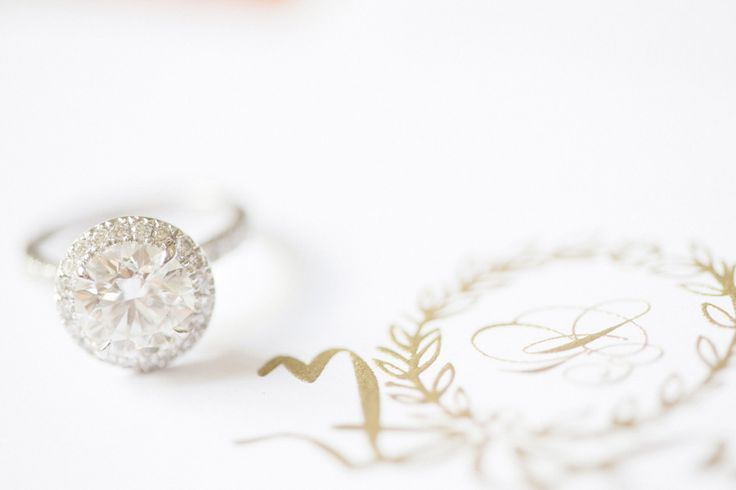 Dazzling Engagement Ring - On SMP: www.stylemepretty... Photography: Clary Pfeif...